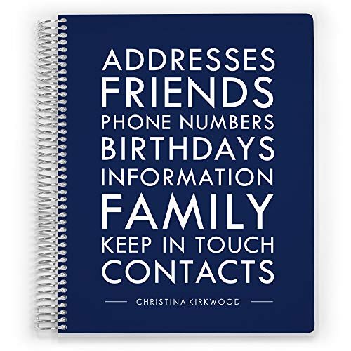 Family Address Book - Address Book, Customized Address Book, Personal Address Book, Spiral Bound Address Book, Modern Family, 8.5 inch by 11 inch