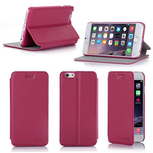 Ultra Slim Tasche Leder Style iPhone 6 4.7 Hülle Rosa Cover mit Stand - Zubehör Etui smartphone 2014 Apple iPhone 6 4,7 Flip Case Schutzhülle (Handy tasche folio PU Leder, Rosa pink) - Brand XEPTIO ac