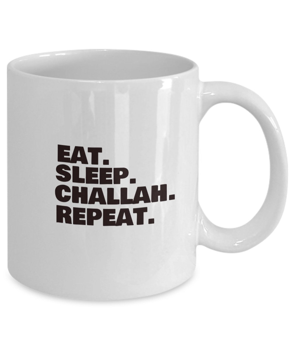 Amazon Eat Sleep Challah Repeat White Coffee Or Tea Mug Top Birthday Gifs For Synogogue Friend Unique Religious Gift Jewish Novelty Cup Prayer Gifts