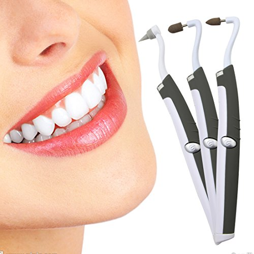 Multifunction Sonic Tooth Stain Eraser,Teeth Burnisher Polisher Whitening Tartar Plaque Remove Surface Teeth Coffee, Tea, Cola,Tobacco Stains, Dental Calculus-Dental Cleaning Tool with LED Light (Tooth Remove Plaque)
