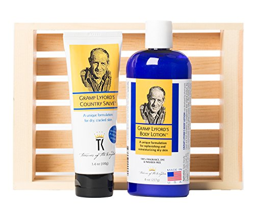 Gramp Lyford's Country Salve Gift Box - Country Salve & Body Lotion in Wooden Crate