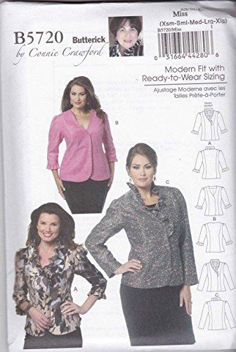 BUTTERICK PATTERNS B5720 Misses'/Women's Jacket, Size WOMAN (XXL-1X-2X-3X-4X-5X-6X)