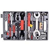 Goplus 44 PC Multi-Function Bike Bicycle Repair Tools Tool Kit Set Home Mechanic Box Cycling