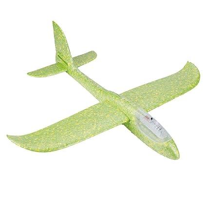 2c950ee5e7 Ouinne Planos de Espuma los Planeadores Glider Juguete Lanzamiento de Mano  Modelo de Avion Naranja Molinillos ...