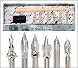 Quill Lines Vintage Drawing 6 Nibs Pen Set