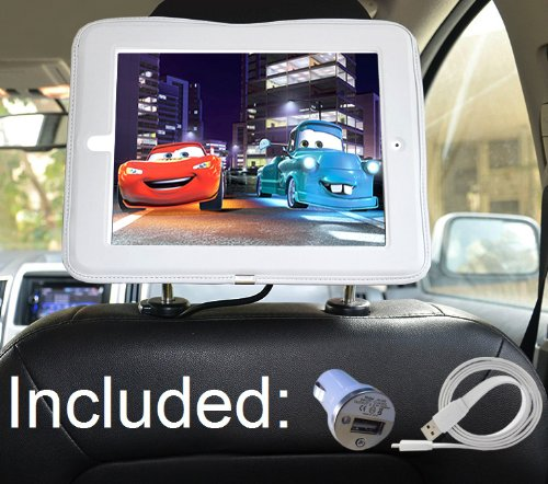 IPad 4 3 2 Car Headrest Mount Holder Including Extra Long Cable