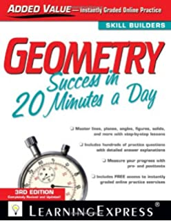 Chemistry review in 20 minutes a day learningexpress 9781576857991 geometry success in 20 minutes a day fandeluxe Image collections