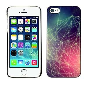 TopCaseStore / la caja del caucho duro de la cubierta de protección de la piel - Hipster Colors Pattern - Apple iPhone 5 / 5S