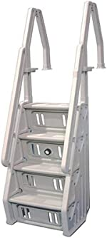 Vinyl Works Deluxe Adjustable 24 Inch in-Pool Step Ladder Entry System