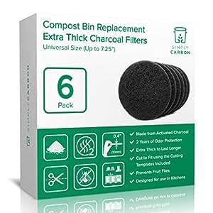 Amazon.com: Simply Carbon – Filtro de olor para contenedor ...
