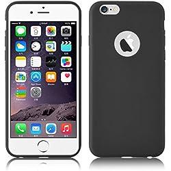 Cover iPhone 6 Plus, JAMMYLIZARD Custodia JELLY in Silicone per iPhone 6 Plus e 6s Plus, NERO
