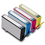 Printronic Remanufactured Ink Cartridge Replacement for HP 564 Color Ink Cartridge 4 Pack (Bk/C/M/Y), Office Central