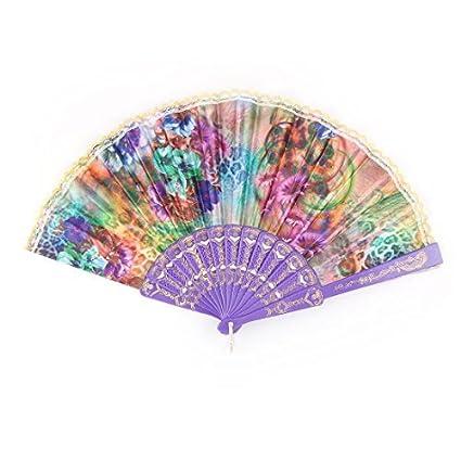 eDealMax Patrón de plástico la boda de Rose de la señora Partido del Baile ventilador de