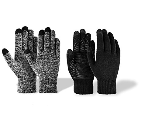 Winter Mens&Womens Touch Screen Gloves Knitted Non-slip Soft Gloves ()
