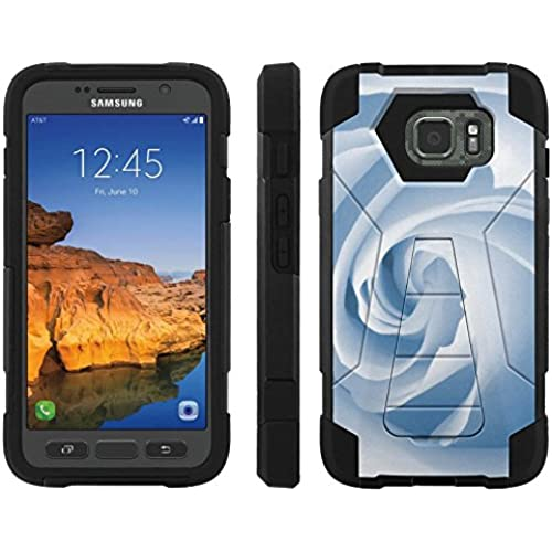 AT&T [Galaxy S7 Active] ShockProof Case [ArmorXtreme] [Black/Black] Hybrid Defender [Kickstand] - [Blue Rose] for Samsung Galaxy [S7 Active] Sales