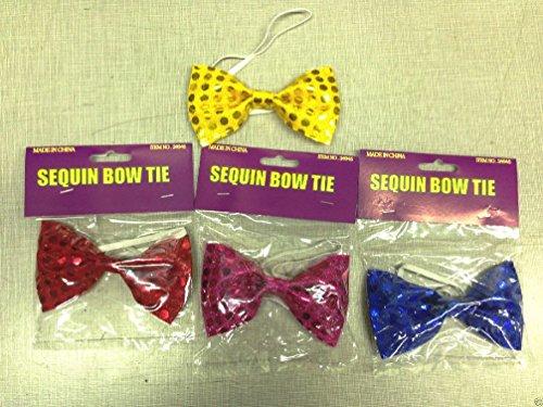 Sequin Bowtie Bow Tie Formal Tuxedo Clown Dance Elastic Band Costume Accessory (Circus Dance Costumes)