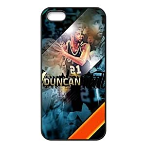 Fashionable Designed iPhone 5/5s TPU Case with San Antonio Spurs Tim Duncan Image-by Allthingsbasketball