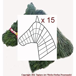 Topiary Art Works 15 Horse Head Wreath Wire Forms - Made in horse country! 1