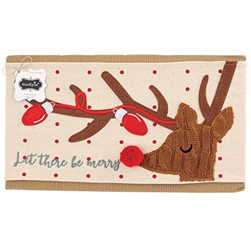 Mud Pie Reindeer Pillow Wrap (Pillow Wraps)