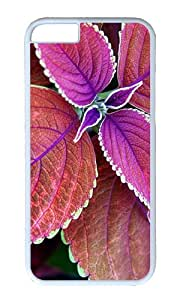 Red Leaves bloom PC White Hard Case for Apple iPhone 6(4.7 inch)