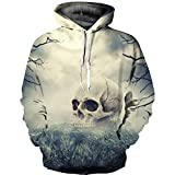 Sinzelimin Men's Top Unisex Realistic 3D Print Galaxy Pullover Hoodie Hooded Sweatshirts for Teens