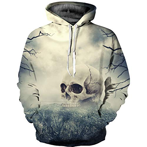 Sinzelimin Men's Top Unisex Realistic 3D Print Galaxy Pullover Hoodie Hooded Sweatshirts for Teens by Sinzelimin Men's Top