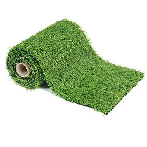 ECO MATRIX Artificial Grass Table Runners Fake Grass Tabletop Synthetic Grass Rug Green Turf Carpet for Home Party Wedding Decor (1.31'x 4.92') -