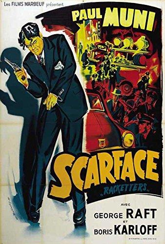 Scarface Poster Movie French 27x40 Paul Muni Ann Dvorak Karen - Morley Store