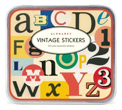Cavallini Vintage 100 Plus Assorted Alphabets Stickers