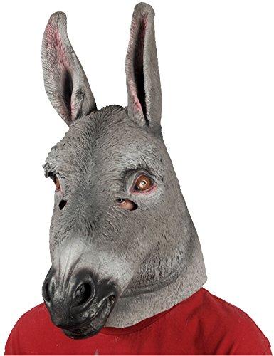 Loftus International Adult Star Power Realistic Donkey Animal Mask, One Size, Grey]()