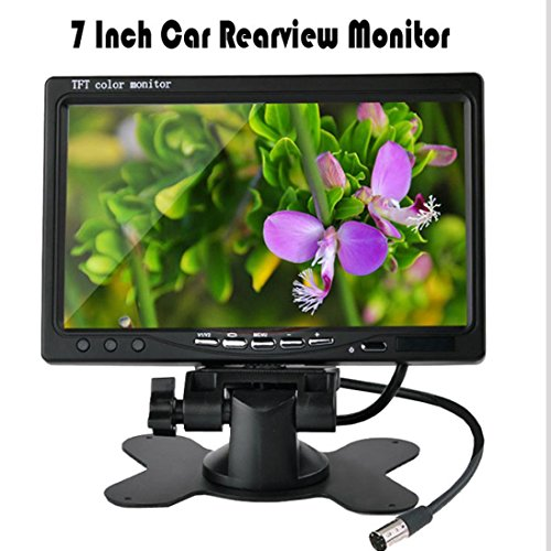 Dacawin Car Rearview monitor rearview backup camera system 7 TFT LCD Screen Night Vision (Black) by Dacawin (Image #4)