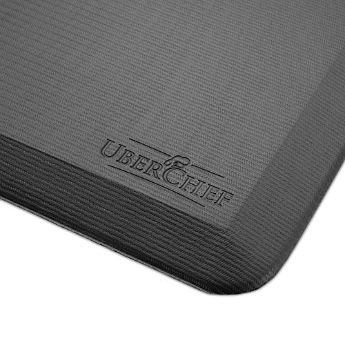 UberChef Premium Anti-Fatigue Comfort Matx25CF; Ergonomic, Non-Slip, Non-Toxic & Waterproof Standing Kitchen Floor & Garage Matx25CF; 42x20 inches, 3/4