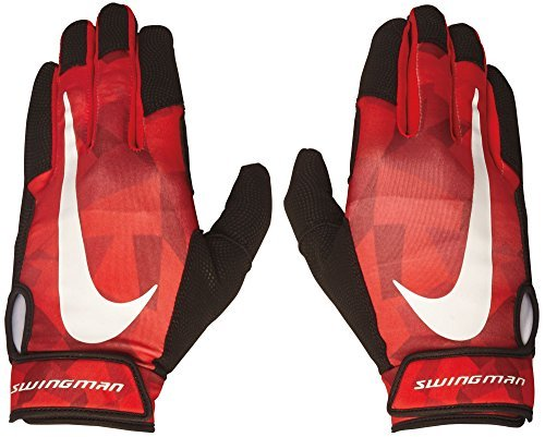 NIKE Adult Swingman Pro Batting Gloves, (Red, XL) by NIKE