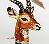 Jay Strongwater Jungle Alec Gazelle Wine Stopper Swarovski Crystals New in the Box