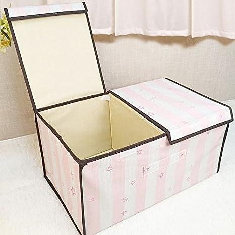 LIUYULIN Clasificación De Las Cajas De Almacenamiento Cajas Cajones Cajones De Tela Almacenamiento Y Plegado De Cajas Plegables (50 * 30 * 25 Cm) G: ...