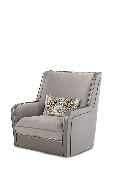 Genial Michael Amini Hollywood Swank Swivel Upholstered Chair