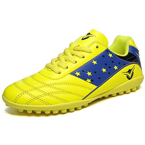 XING Lin Fußball Schuhe männlich und weiblich Kinder Training Schuhe Schüler Jungen Broken Nail Leder Fuß Künstliche Grassland Jugend Fußball Schuhe gelb
