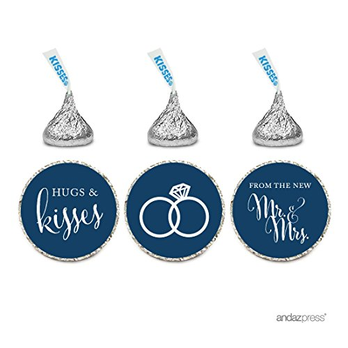 andaz-press-chocolate-drop-labels-stickers-wedding-hugs-kisses-from-the-new-mr-mrs-navy-blue-216-pac