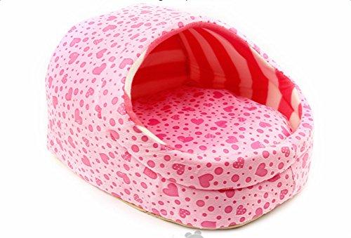 Da.Wa Princess Pink Dog Nest Pet Bed Cotton Washable Thickening Dog Puppy House Sleeping Pad -