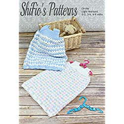 Crochet Pattern for Baby Sleeping Bag, 3 Sizes CP196