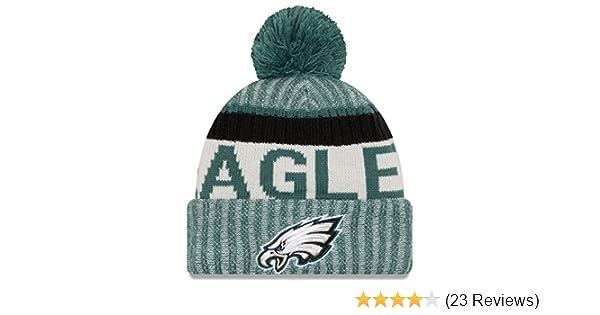 075cf0042e4 Amazon.com  New Era Philadelphia Eagles 2017 On-Field Sport Knit Beanie Hat Cap  Green  Sports   Outdoors