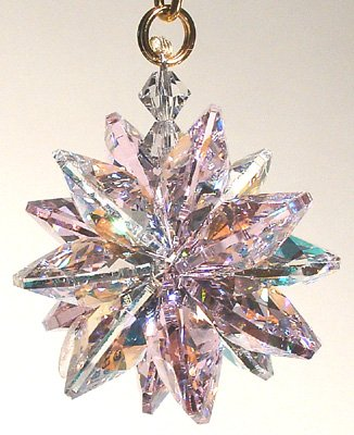 Small Austrian Crystal - AB and Rose Small Suncluster with Austrian Crystal