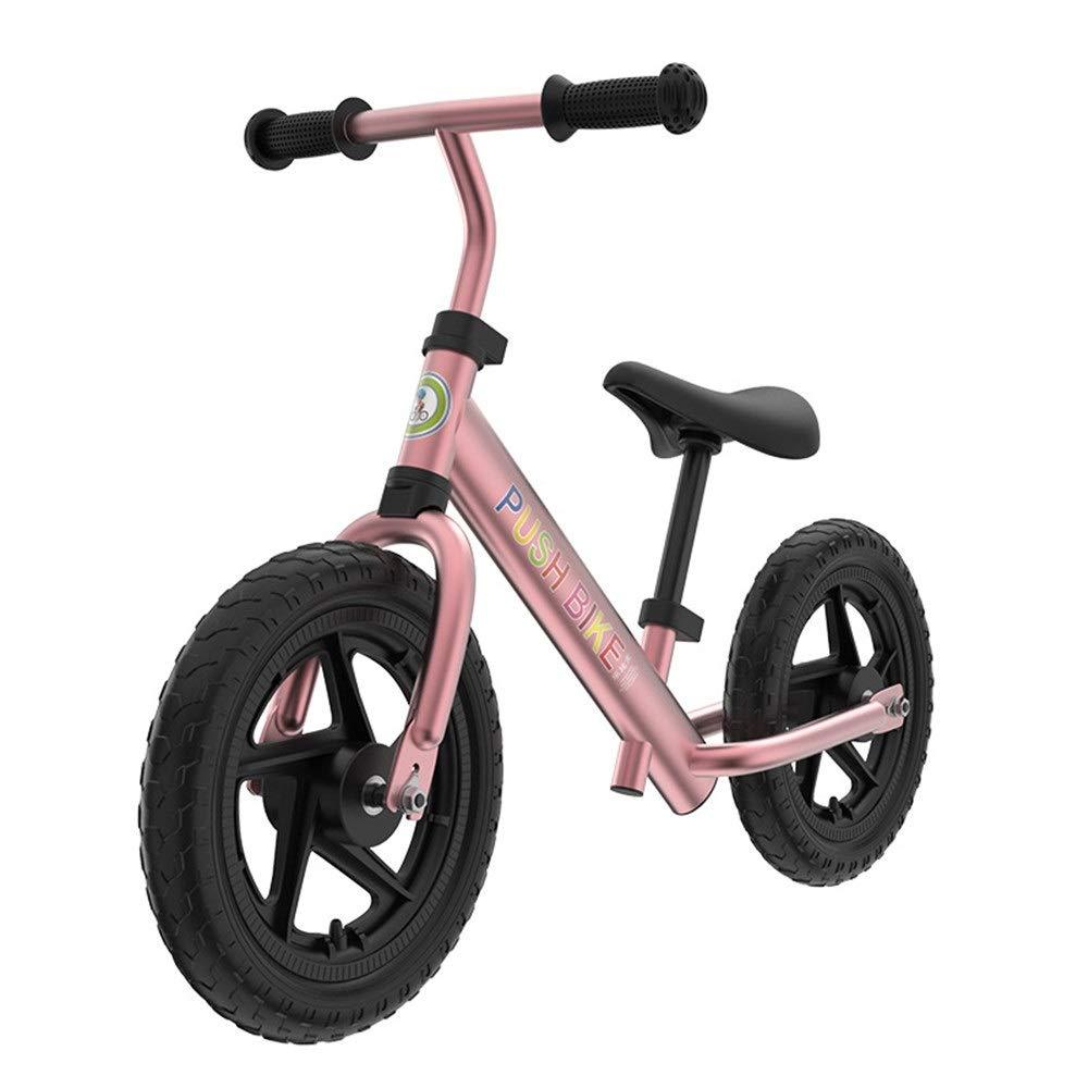 azulsh Powder Zoueroih Bicicleta de Equilibrio Sport Balance Bike No Pedal Walking Bicicleta con Marco de Acero Balance de Aluminio para niños uomoillar Ajustable y Asiento 12 Pulgadas Bicicleta para niños 12 inches