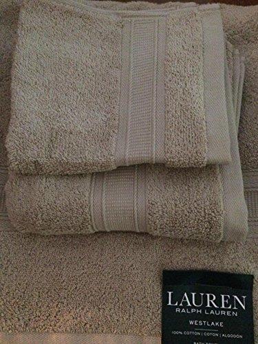Ralph Lauren Westlake Dune 3 Piece Towel Set- Bath, Hand, Wash](Ralph Lauren Linens)