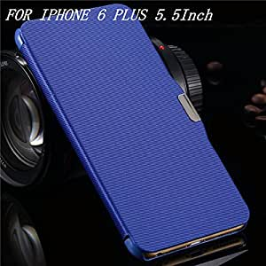 6/6S Luxury Fabric Leather Case For Iphone 6S Plus 5.5 Cover Flip Protective Skin With Magnetic Buckle Cover For Iphon6 6S-Blue For I6 Plus