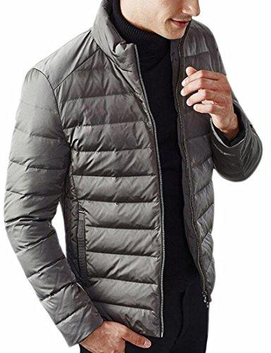 Il Giù uk Uomo 3 Frontale Allentata Sportivo Solido lungo Brd Zip Calda Cappotto Medio Outwear PwWnUqvR51