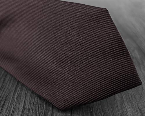 Brown Mens Wedding Colors Woven 6 Exquisite Formal Solid 100 Various Plain Business Tie Silk Dark Necktie 8CM aaUqr0