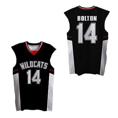 borizcustoms Zac E Troy Bolton 14 East High School Wildcats Patch  Basketball Jersey Stich (30 3019aff69