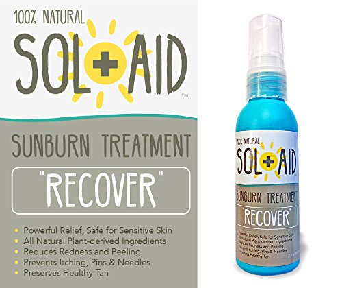 Sol-Aid RECOVER Sunburn Treatment: All Natural Non-aloe After Sun Recovery Spray