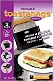 Toastabags - Toaster Bags Premium Reusable 300 Times Non-Stick Sandwich/Snack Bags 2 Pack